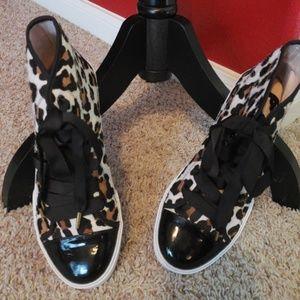 Brand New Kate Spade fur high tops Sz 8